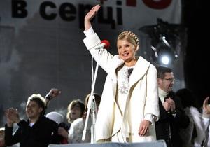 Главную улицу Львова перекрыли на семь часов из-за митинга Тимошенко