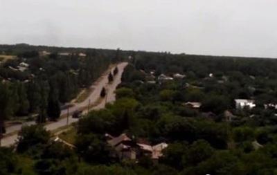 В Снежном сняли на видео зенитно-ракетный комплекс  Бук