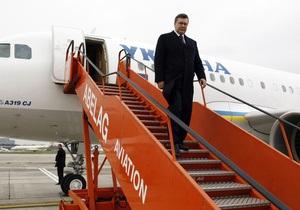 Янукович отменил поездку на Волынь в связи с погодными условиями