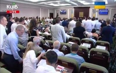 Депутаты партии Ляшко в Киевсовете спели  полный гимн
