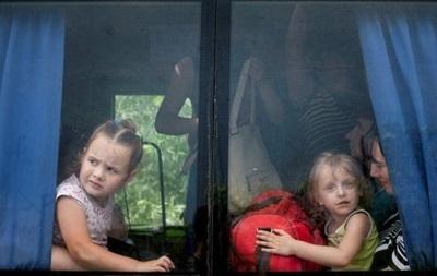 Дети-сироты из Луганска эвакуированы в Харьковскую область