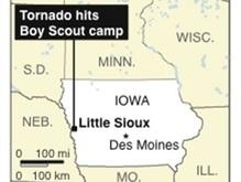 Торнадо в США разрушил лагерь бойскаутов: четыре человека погибли