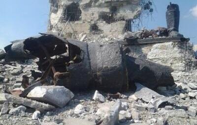 Монумент памяти ВОВ на кургане Саур-Могила разрушен в ходе боев