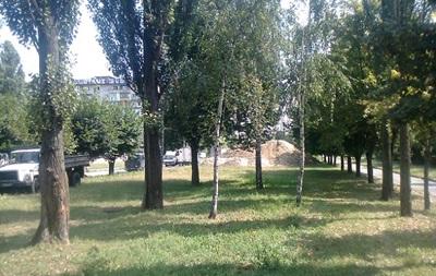 В Оболонском районе Киева позволили грузовикам парковаться на аллеях