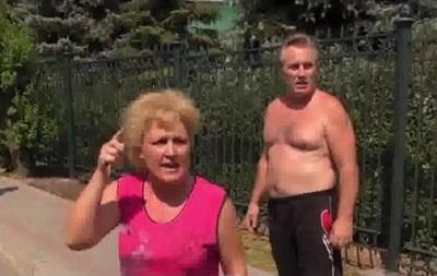 Для картинки российского ТВ . Жители Донецка обвинили ДНР в обстрелах города