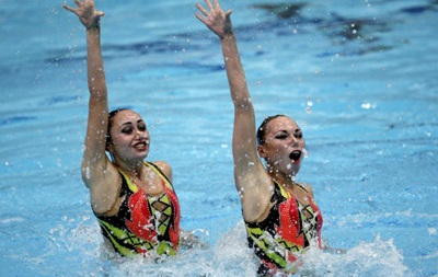 Синхронистки выиграли для Украины первую медаль на ЧЕ по водным видам спорта