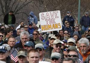 В центре Вашингтона прошел митинг рыбаков
