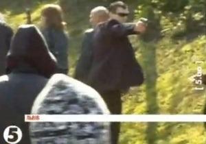 Обнародовано видео с мужчиной, стреляющим в члена ВО Свобода во время столкновений во Львове