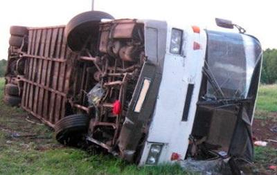 В Киевской области перевернулся рейсовый автобус, есть пострадавшие