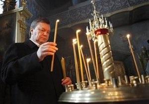 Янукович и митрополит Владимир помолятся по случаю завершения избирательной кампании