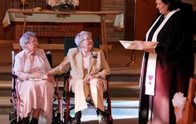 Две американки поженились после 72 лет совместной жизни
