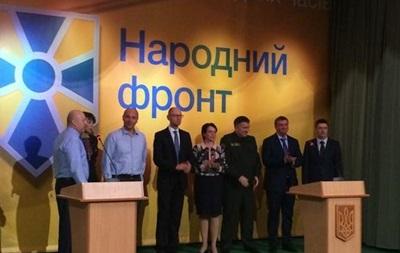 Яценюк и Турчинов пойдут на выборы с  Народным фронтом