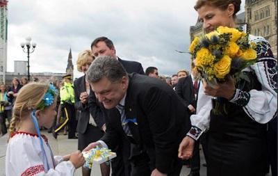 Порошенко провел встречу с руководством Конгресса украинцев Канады