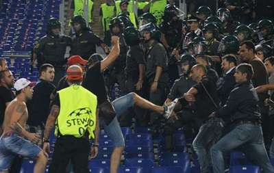 Культура боления: Фанаты ЦСКА избили стюардов на матче Лиги чемпионов