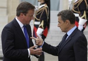Саркози и Кэмерон прибыли в Ливию