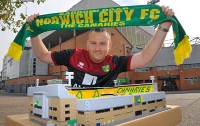 В Англии болельщик собрал из Lego стадион Норвича