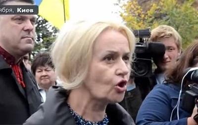 Фарион на митинге призвала  уничтожить Москву