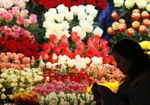 В Киеве в День влюбленных подорожали цветы