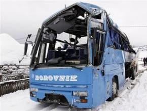 В Боснии перевернулся автобус с подростками