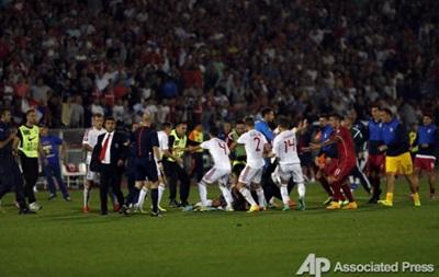 Сербия и Албания наказаны лишением очков за срыв матча отбора Евро-2016