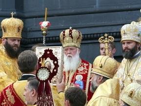 Патриарх Филарет возглавил крестный ход УПЦ КП