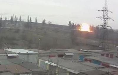 Обнародовано видео взрыва на блокпосту под Мариуполем