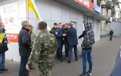 В Мелитополе на митинге произошла потасовка