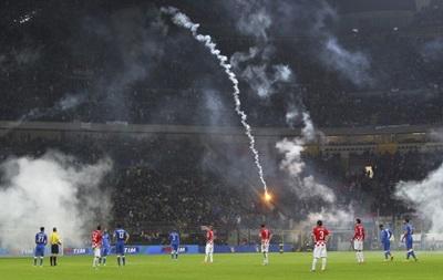 Фотогалерея: Как фанаты сборной Хорватии на матче с Италией похулиганили