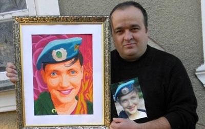 Одеський художник виліпив із пластиліну портрет Надії Савченко