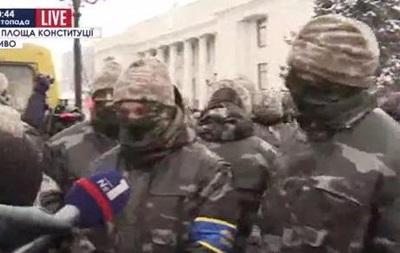 Потасовка под ВР: активисты называли силовиков  титушками