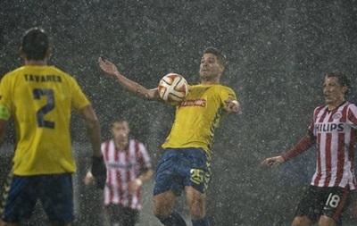 Сильный ливень в Португалии остановил матч Лиги Европы