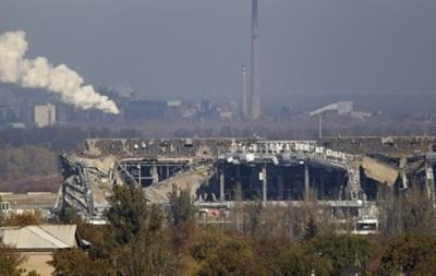 В Донецке была слышна стрельба, ранены два  киборга