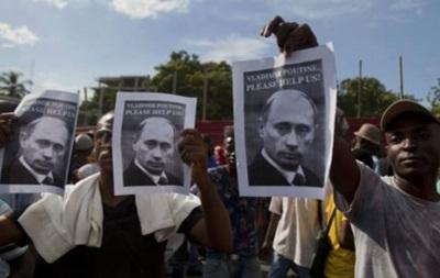 Демонстранты на Гаити просят помощи у Путина