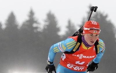 Украинка Семеренко получила цветы на этапе Кубка мира по биатлону