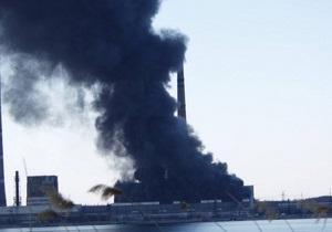 Авария в Углегорске - Пожар на Углегорской ТЭС: тысячи горожан остались без тепла и света