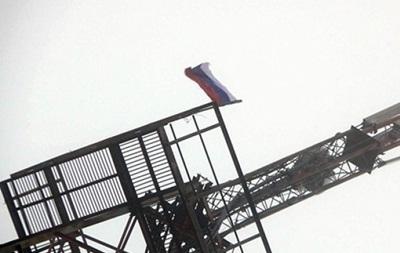 На вышке в Одесской области вывесили российский флаг