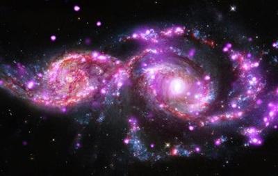 Астрофізики показали перші знімки злиття двох спіральних галактик