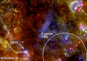 Астрономы зафиксировали образование новых звезд в созвездии Лебедя