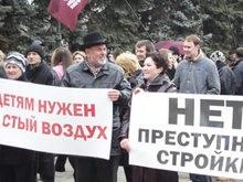 Мэр Донецка остановил застройку на месте вырубленного сквера