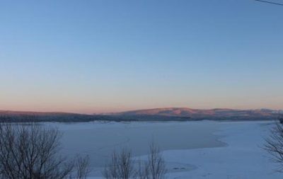У Криму замерзло Сімферопольське водосховище
