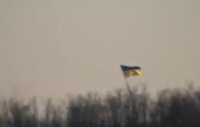 Бойцы  Азова  установили флаг Украины возле Гранитного