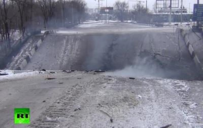 В Донецке разрушен Путиловский мост