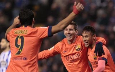 Хет-трик Месси принес Барселоне победу над Депортиво