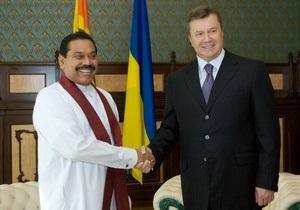 Янукович договорился: Украина будет искать нефть в Шри-Ланке