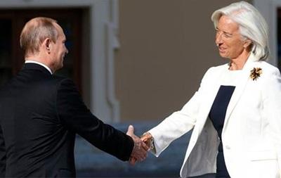Путін поговорив з главою МВФ про допомогу Україні