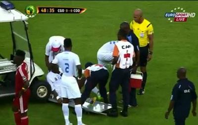 Кубок Африки: Машина медпомощи наехала на травмированного футболиста