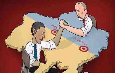 Свіжі карикатури у німецьких ЗМІ на російсько-український конфлікт