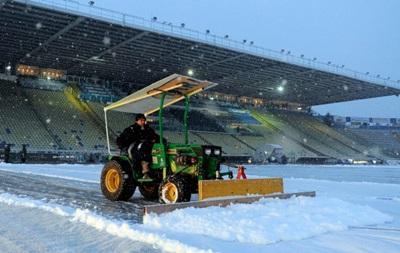 В Італії матч скасували через сильний снігопад