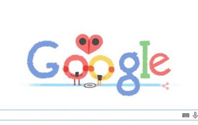 Google привітав закоханих з Днем святого Валентина
