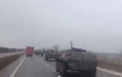 В Крыму зафиксировали движение бронетехники